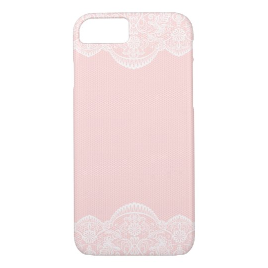 Elegant Cute Pink Floral Lace Girly iPhone 7