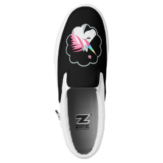 elegant cute unicorns emoji Slip-On shoes