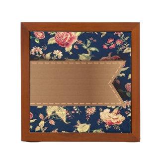 Elegant Cute Vintage Floral Pattern Desk Organiser
