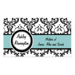 Elegant Damask Blue Mummy Calling Cards Business Card Templates