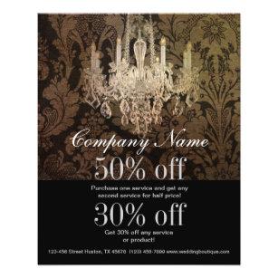 elegant damask chandelier Interior Designer Flyer