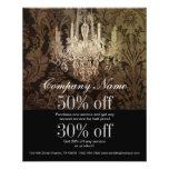 elegant damask chandelier vintage promotional 11.5 cm x 14 cm flyer