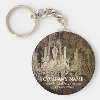 elegant damask chandelier vintage promotional basic round button key ring