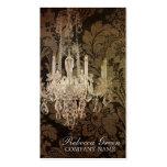 elegant damask chandelier vintage promotional business card templates