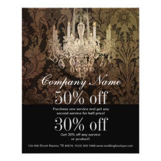 elegant damask chandelier vintage promotional custom flyer