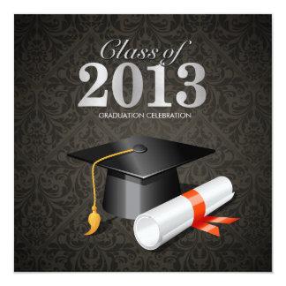 Elegant Damask Class of 2013 Card