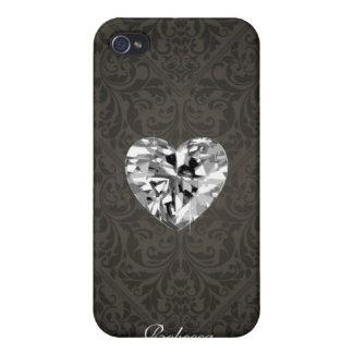 Elegant Damask Diamond Heart iPhone case iPhone 4/4S Case