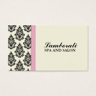 Elegant Damask Floral Stylist Salon Hairdresser Business Card