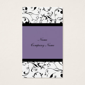 Elegant damask, floral vines business card