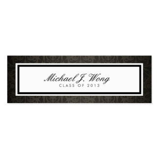Elegant Damask Graduation Announcement Name Cards Business Card Template