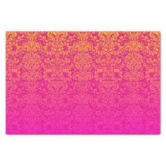 Elegant Damask (Hot Pink and Orange) Tissue Paper