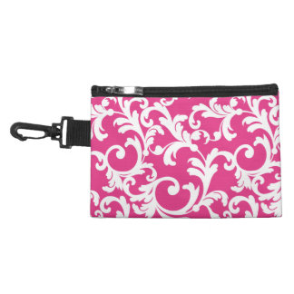 Elegant Damask in Pink Accessory Bags
