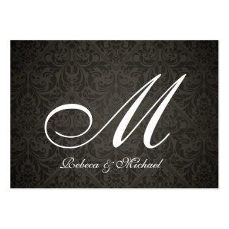 Elegant Damask Monogram Bride & Groom RSVP Cards Business Card Templates
