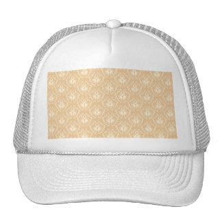 Elegant damask pattern Beige and cream Trucker Hat