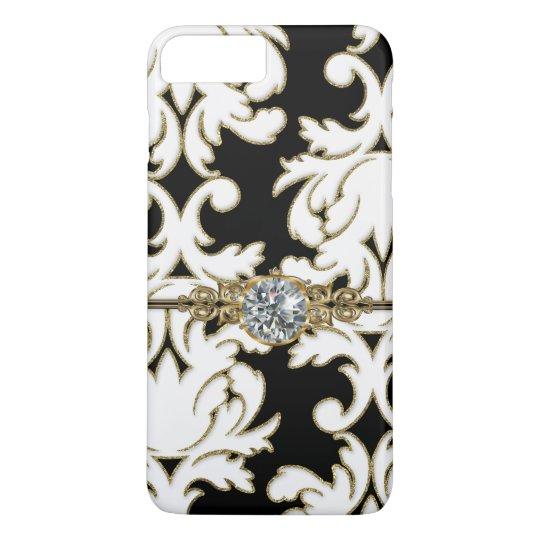 Elegant Damask Pattern Bling Design iPhone 8 Plus/7
