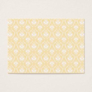 Elegant damask pattern. Light gold color. Business Card