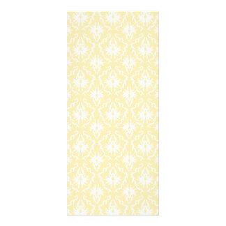 Elegant damask pattern. Light gold color. Rack Card