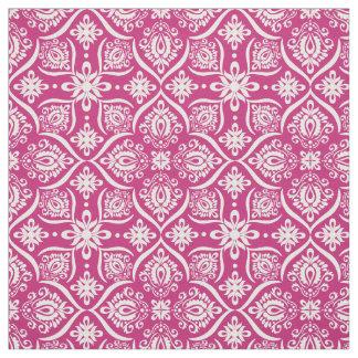 Elegant Damask Pattern | Pink And White Fabric