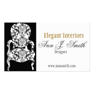 Elegant Damask Pattern Vintage Lace Chair Pack Of Standard Business Cards