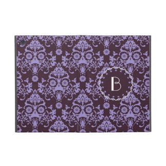 Elegant Damask Pattern with Monogram Case For iPad Mini