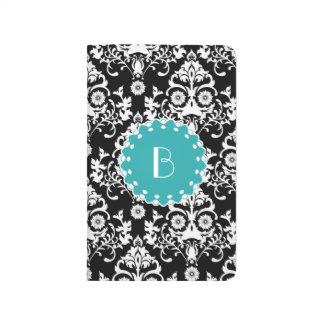 Elegant Damask Pattern with Monogram Journal