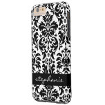 Elegant Damask Patterns with Black and White Tough iPhone 6 Plus Case