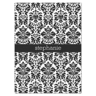 Elegant Damask Patterns with Black and White Tissue Paper