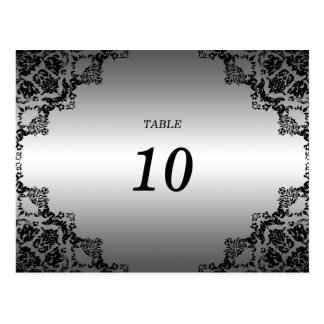 Elegant Damask Table Number Postcard