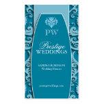 Elegant Damask Wedding Planner Business Cards