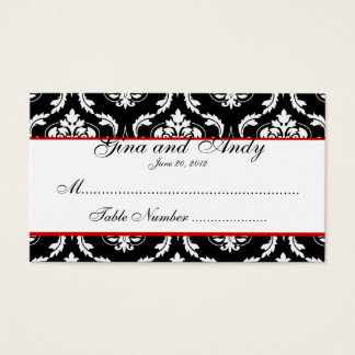 Elegant Damask Wedding Seating Card