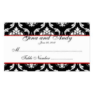 Elegant Damask Wedding Seating Card Pack Of Standard Business Cards
