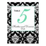 Elegant Damask Wedding Table Numbers