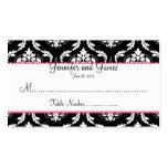 Elegant Damask Wedding Table Seating Card