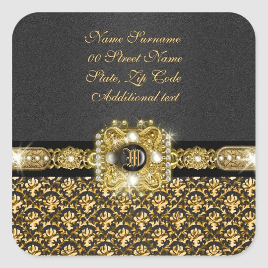 "Elegant damask ""we've moved"" ""new"