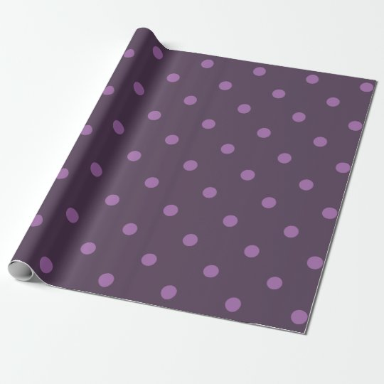 elegant dark and light purple polka dots wrapping