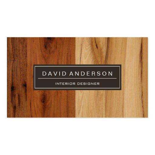 Elegant Dark and Light Wood Grain Look Business Cards