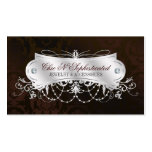 Elegant Dark Chocolate Damask Swirl Pack Of Standard Business Cards