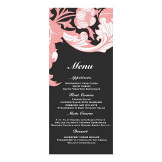 Elegant Dark & Classy Florals - Black, Candy Pink Custom Invites