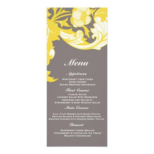 Elegant Dark & Classy Florals - Dark Gray, Yellow Invitation