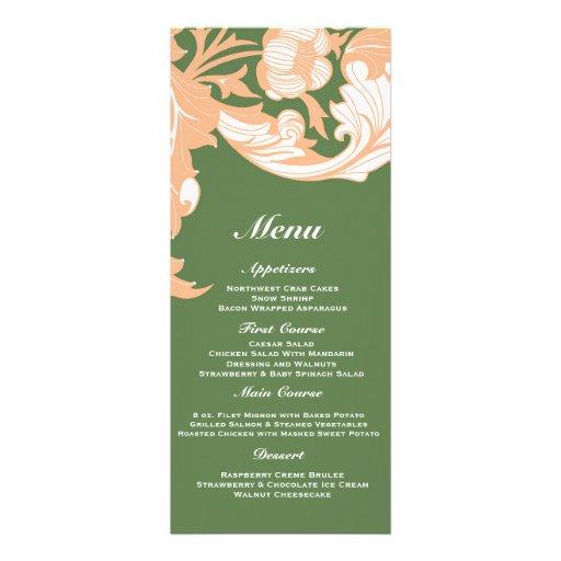 Elegant Dark & Classy Florals - Dark Green, Peach Invitation