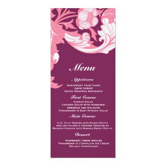 Elegant Dark & Classy Florals - Dark Purple, Pink Invite