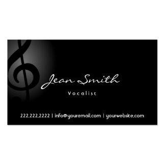 Elegant Dark Clef Vocalist Business Card