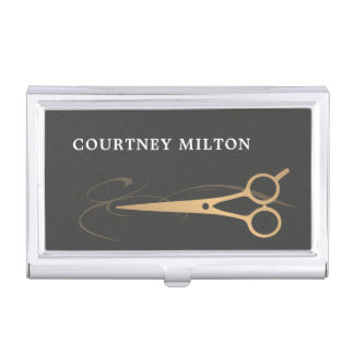 Hair stylist business card holders cases zazzlecouk for Hairdresser business card holder