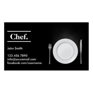 Elegant Dark Personal Chef Business Card