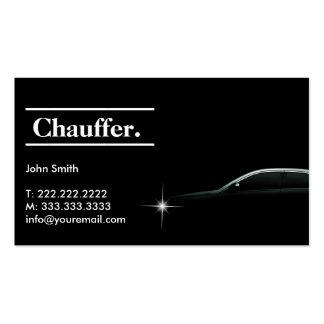 Elegant Dark Taxi Driver/Chauffeur Business Card