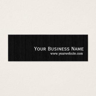 Elegant Dark Wood Texture Mini Business Card