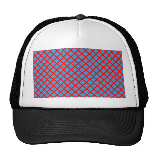 Elegant DarkShade Cross Stripe Purple Pink Gifts Mesh Hats