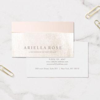 Elegant Day Spa and Salon Blush Pink White Marble