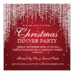 Elegant Dazzle Christmas Holiday Party Red 13 Cm X 13 Cm Square Invitation Card