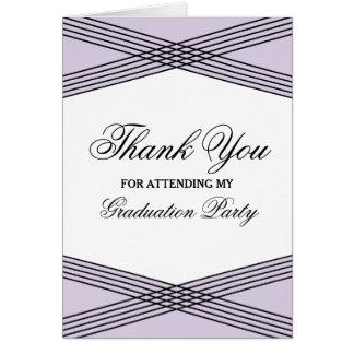 Elegant Deco Purple Graduation Thank You Greeting Card
